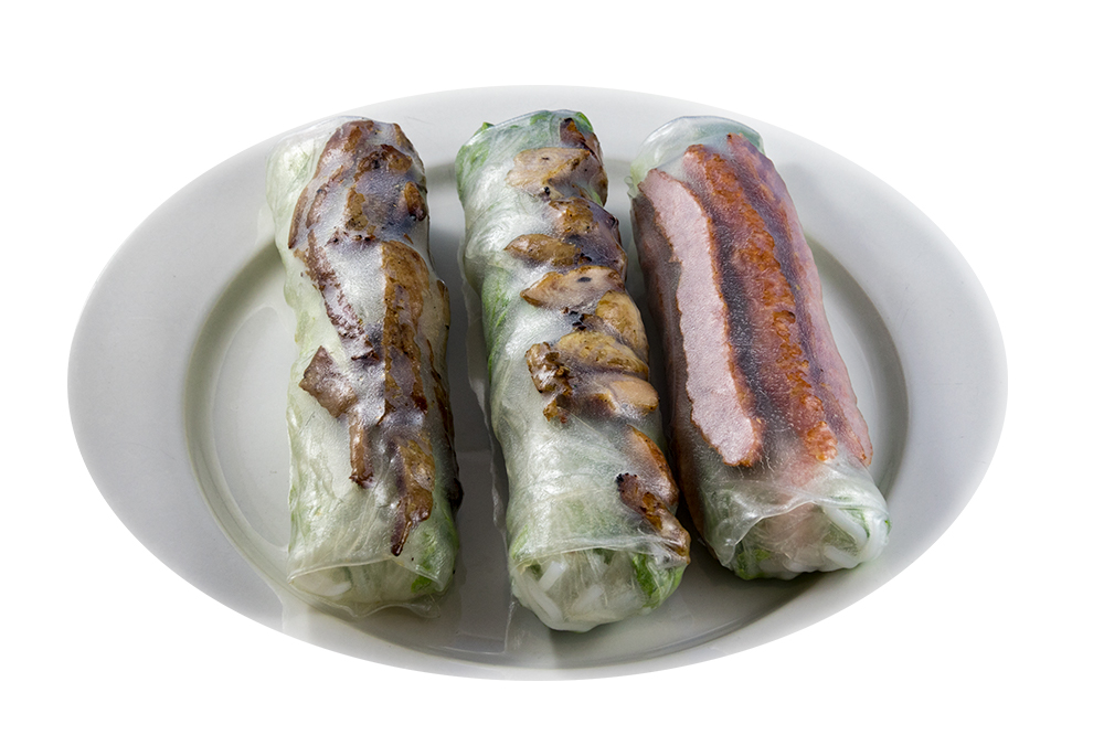 Barbecued Meat salad roll