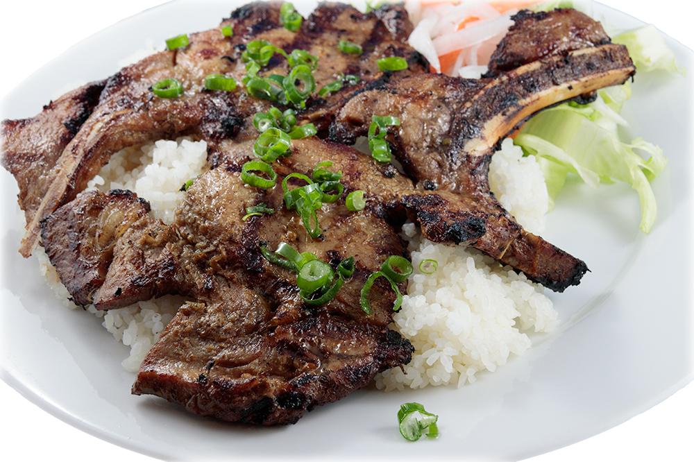 Cơm sườn or Bún sườn nướng Barbequed pork chops