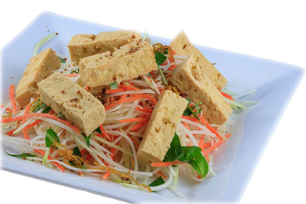 Gỏi đu đủ  Vietnamese Green papaya salad with crispy tofu