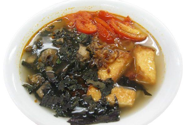 Bún ốc – Snail and crispy tofu soup