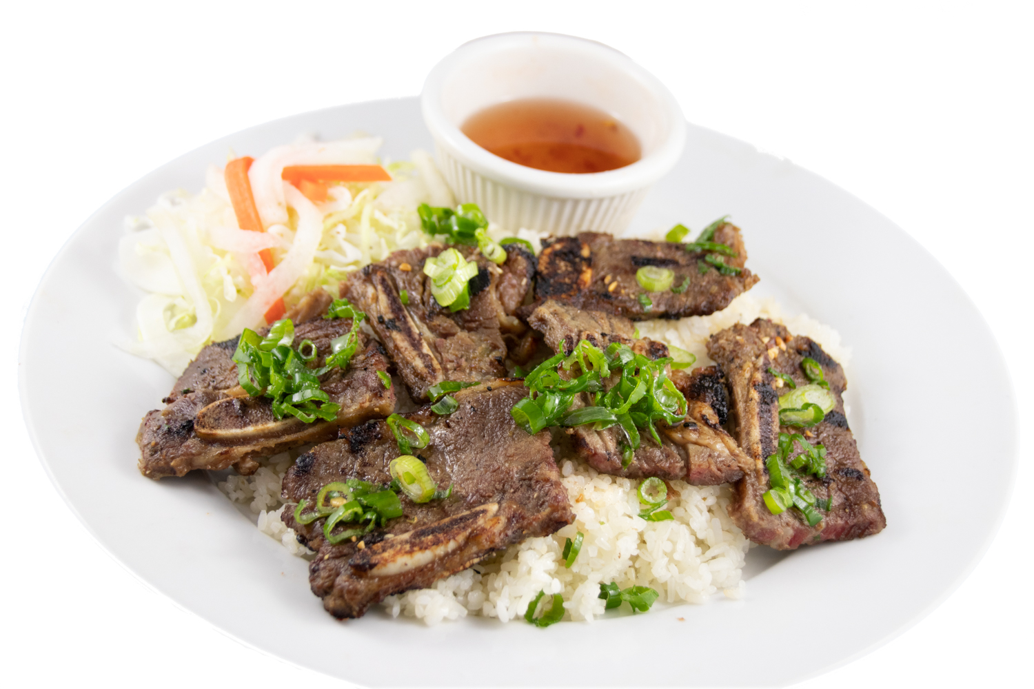 Cơm sườn bò – Barbequed beef short rib with rice